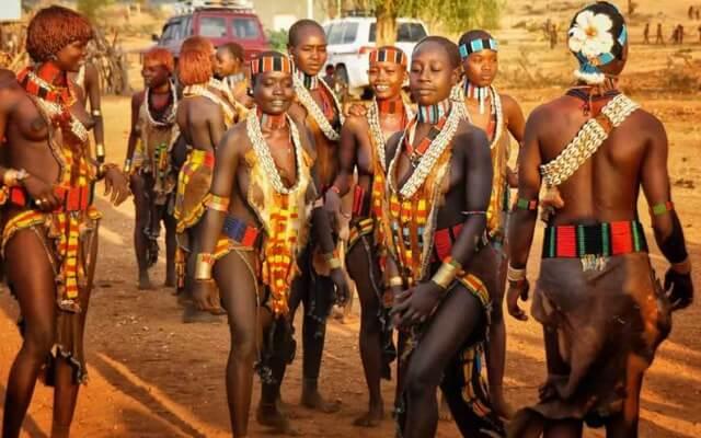 Tradiciniai šokiai Etiopijoje