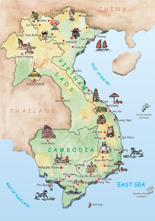 Vietnamo zemelapis