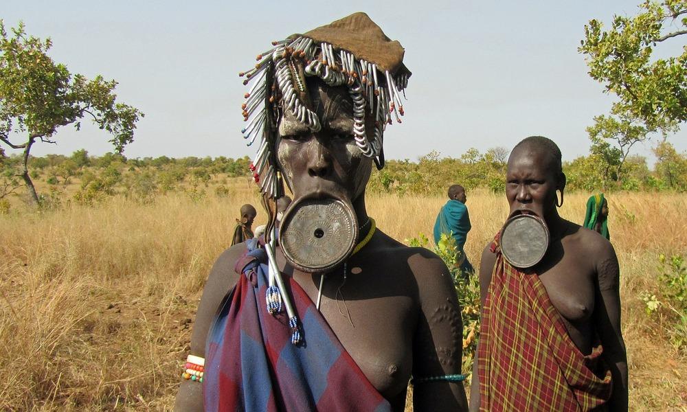 Etiopija mursi gentis